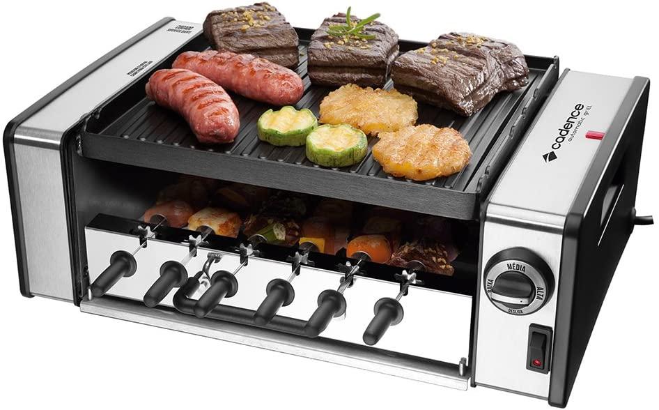 Churrasqueira Elétrica Rotativa Automatic Grill, Inox, 127v, Cadence