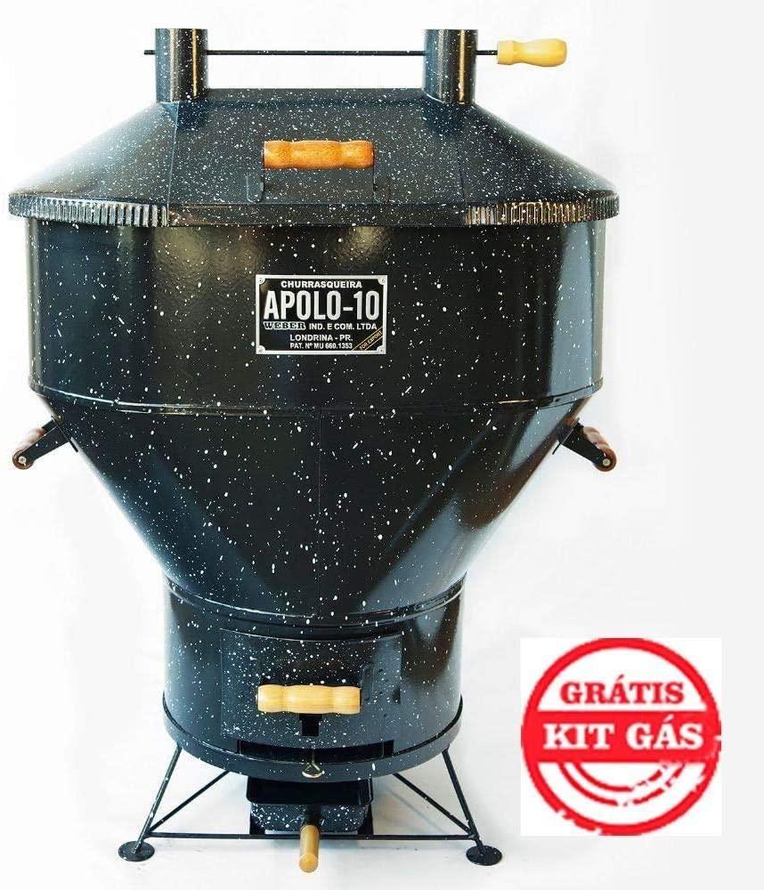 Churrasqueira a Bafo Gás ou Carvão Apolo 10 Esmaltada - Weber