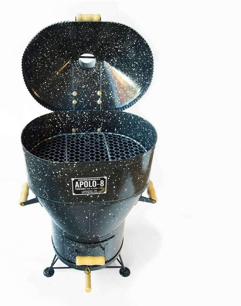 Churrasqueira a Bafo Gás ou Carvão Apolo 8 Esmaltada