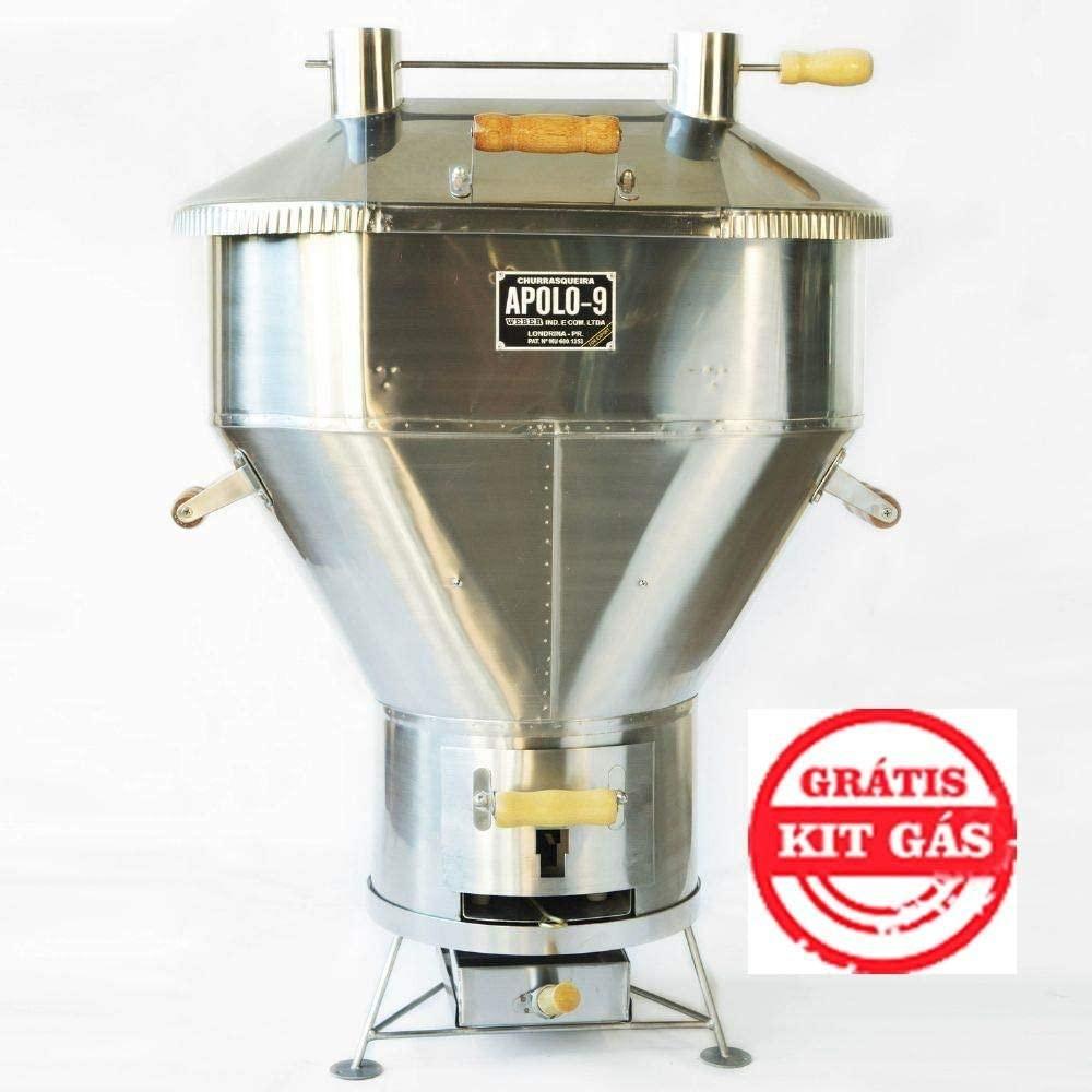 Churrasqueira a Bafo Inox Gás ou Carvão Apolo 9 Inox - Weber